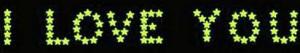 Små Selvlysende Stjerner I Love You